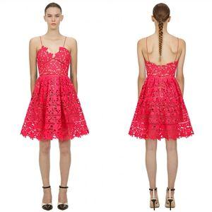 Self-portrait Hot Pink Mini Azalea Dress